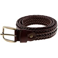 Dolity Men's Women's Waistband Elastic Braided Stretch Belt with Covered Buckle for Jeans Trouser