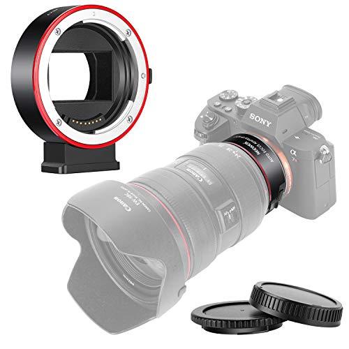 Neewer 電子AFレンズマウントアダプター オートフォーカス絞り制御 CanonEF/EF-SレンズからSony Eマウントカメラへ SonyA9/A7R3/A7R2/A7M3/A7M2/A6500/A6300/A7R/A7S2/A7S/A7/NEX7