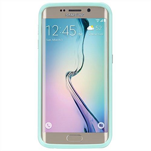【耐衝撃タフネス】 Case-Mate 日本正規品 Galaxy S6 edge docomo SC-04G / au SCV31 Hybrid Tough Stand Case, Blue / Mint ハイブリッド タフ スタンド ケース 【デュアルレイヤー】 CM032578