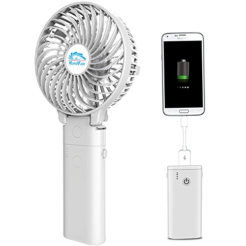 携帯扇風機、HandFan 手持ち扇風機/卓上扇風機 折れ變...