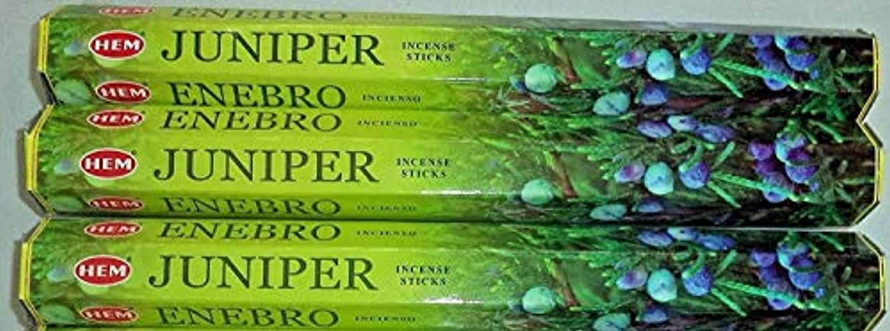 放棄する公平あいまいな裾Juniper 60 Incense Sticks ( 3 x 20スティックパック)