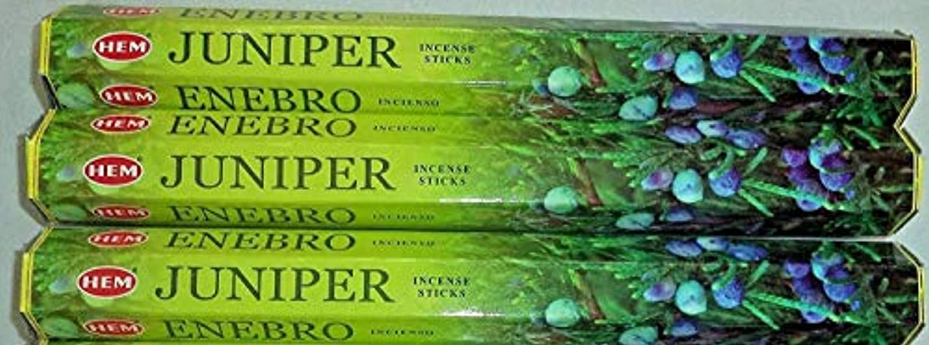 日付付きマウントバンク破裂裾Juniper 60 Incense Sticks ( 3 x 20スティックパック)