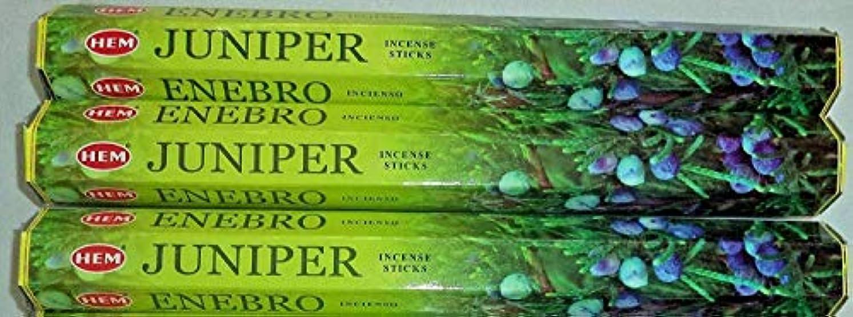 保持する拡張水分裾Juniper 60 Incense Sticks ( 3 x 20スティックパック)