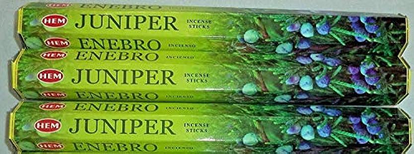 適度に運命的な潜在的な裾Juniper 60 Incense Sticks ( 3 x 20スティックパック)