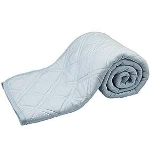 C-J-W ひんやり敷きパッド 接触冷感 ベッドパッド 夏用 クールパッド 涼感 シングル リバーシブル 吸湿速乾 快眠寝具 手触り滑らか爽快 Qmax値0.395 ズレ防止ゴムバンド付き 抗菌防臭防ダニ 洗濯可 150×200CM ブルー