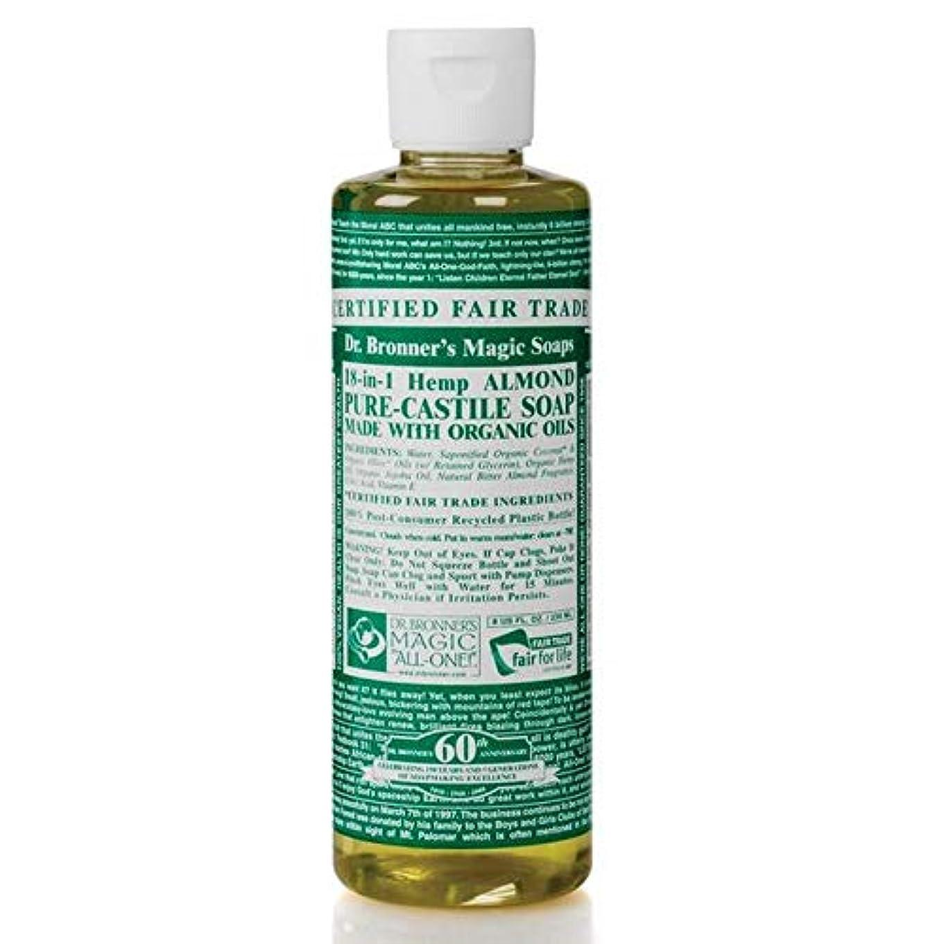 れる暖炉従順[Dr Bronner] Dr。ブロナーズ有機アーモンドカスティーリャ液体石鹸473ミリリットル - Dr. Bronner's Organic Almond Castile Liquid Soap 473ml [並行輸入品]