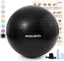 RGGD&RGGL 45cm/55cm/65cm/75㎝ バランスボール 厚い 環境にやさしい アレルギー防ぎエクササイズボール アンチバーストヨガボール 耐荷重997kg ジム/ホーム/オフィスなどに適用 椅子