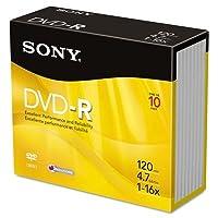 son10dmr47r4us Disc DVD R 10pk Jewel CSE by Sony