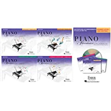 NEW SET - Faber Piano Adventures Primer Level Set (4 Books & 1 CD) - Lesson, Theory, Performance, Technique & Artistry, and Background Accompaniments CD Audio & MIDI Files