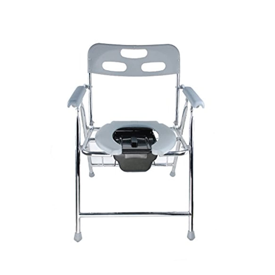 女の子ベッド標高- 折りたたみ式トイレ椅子とトイレの椅子のバスルームのアンチスリップ調節可能な高さのバスルームシャワーのスツール高齢者/妊婦/障害者のトイレの椅子 チェスト