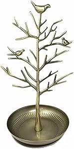 スマイルミント(smile mint) アクセサリーツリー かわいい小鳥 ジュエリースタンド (イエローゴールド)