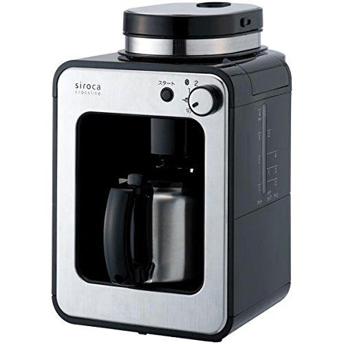 オークセール 全自動コーヒーメーカー siroca crossline ステンレスサーバー STC-501BK ブラック