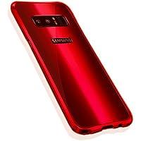 Galaxy Note 8 メタルバンパー uovon 高品質アルミ製フレーム+バックプレート スクラッチ保護 Samsung note8 SC-01K カバー オシャレデザイン 最高レベル耐衝撃 SCV37 ケース (Galaxy Note 8, レッド)
