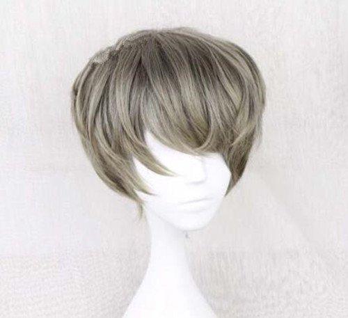 耐熱コスプレウイッグ かつらショートヘア 28cm 男性中性風少年風日常原宿風GAL系小顔効果wig cosplay