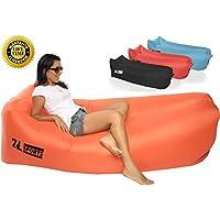 インフレータブルAir Lounger – Perfect for旅行、キャンプ、ビーチ、プール。として使用Air椅子、Hangoutソファ、ソファ、ハンモック、with Carryバッグ。簡単に凸レンズ。