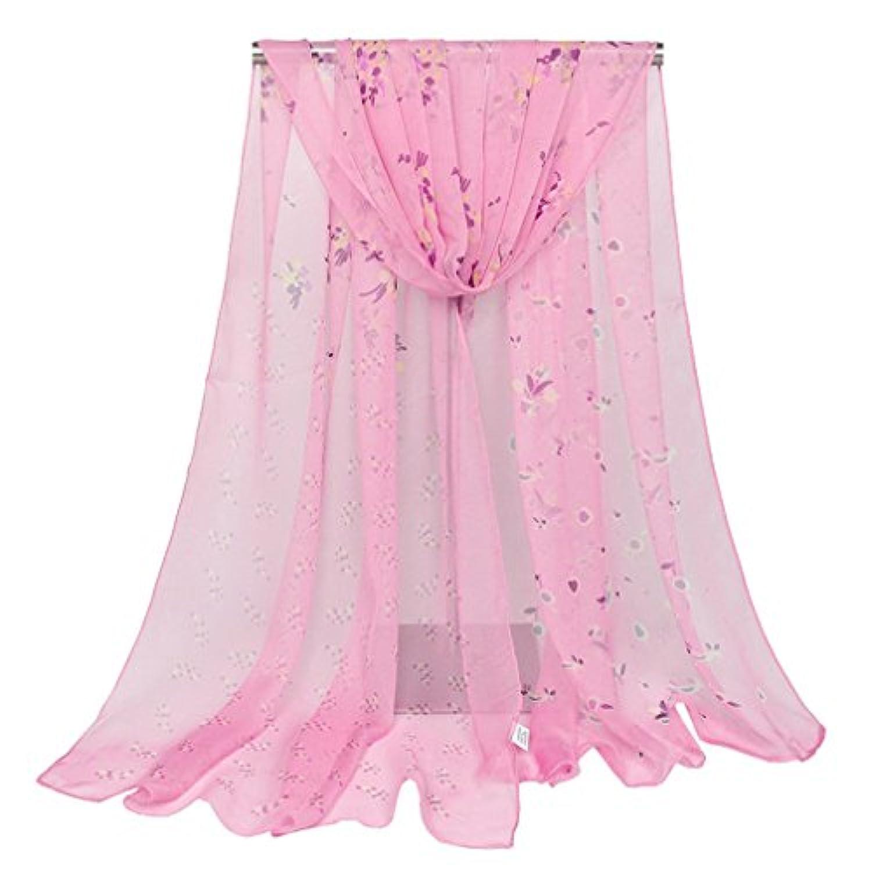 (ビグッド) Bigood レディース 薄手 マフラー プリント スカーフ 羽織り UVカット?冷房対策 ショール 肩掛け 旅行 通勤