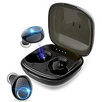 Bluetoothイヤホン ワイヤレスイヤホン Bluetooth5.0 ブルートゥースヘッドホン IPX5防水 Hi-Fi 高音質 左右分離型 自動ペアリング iPhone Android対応
