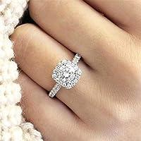 ウェイスクエアクリスタルダイヤモンドリングファッショナブルな魅力的なエレガントな繊細なジルコン結婚記念日の婚約指輪ジュエリーアクセサリー
