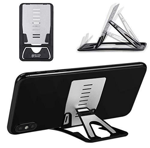 スマホスタンド 折りたたみ 軽量 タブレットスタンド 携帯電話スタンド コンパクト 軽量 カードサイズ 卓上 薄型軽量 折りたたみ式 角度調整可能 携帯便利 9段階