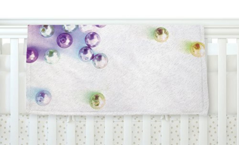 KESS InHouse Louise Machado Pearl Magenta Purple Fleece Baby Blanket 40 x 30 [並行輸入品]