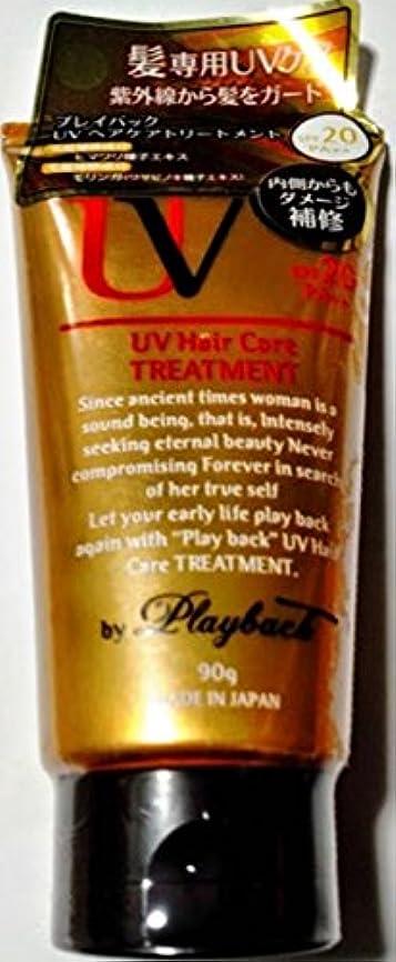 欠員平均名門プレイバック UVケア 洗い流さないヘアトリートメント
