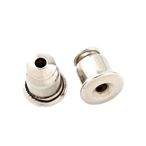 ピアス キャッチ ライト 取れにくい 落ちない 1ペア 2個 ニッケルフリー 金属アレルギー対応 シルバー MAILca0023-R