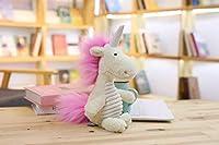 ユニコーン おもちゃ 可愛い長い髪動物 ユニコーン 象 ライオン イノシシ ドラゴンの毛糸の人形 おもちゃ まくら 誕生日 プレゼント 60CM d