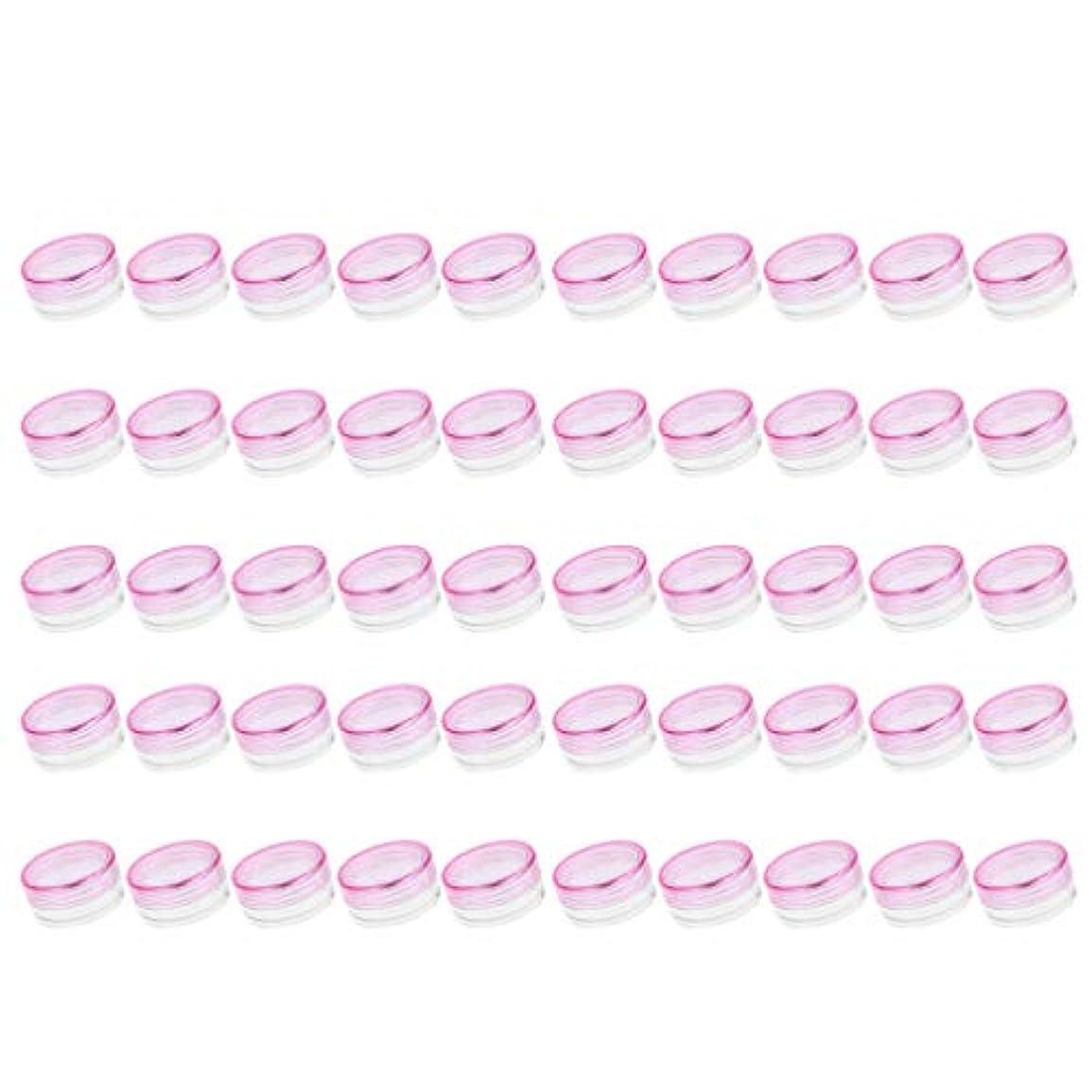 あたたかい寝るすずめP Prettyia クリームジャー クリームケース 化粧品 小分け 詰替え 容器 約50個 - ピンク