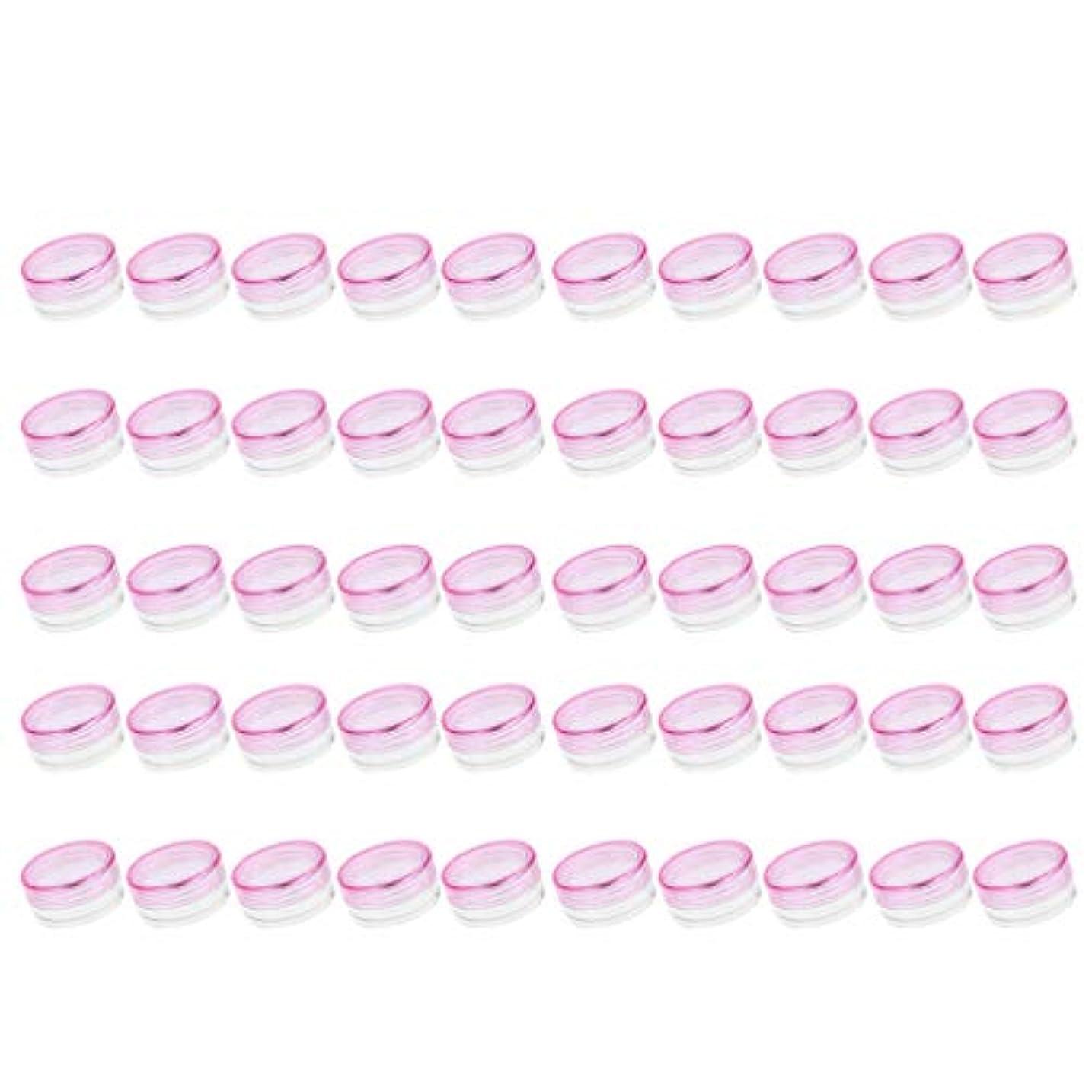 切り下げ現象設計P Prettyia クリームジャー クリームケース 化粧品 小分け 詰替え 容器 約50個 - ピンク