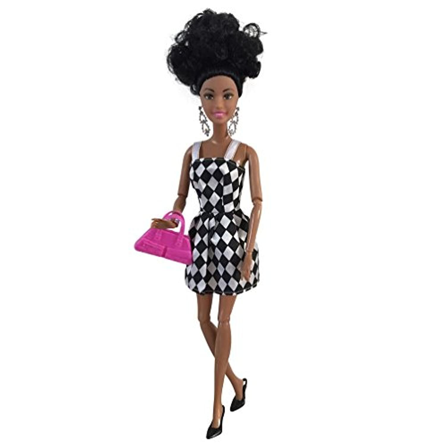(B) - Baby Movable Joint African Doll Makaklon Toy Black Doll Best Gift Toy (B)