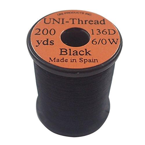 ティムコ(TIEMCO) フライタイイング UNI ユニスレッド 6/0 200ヤード ブラック