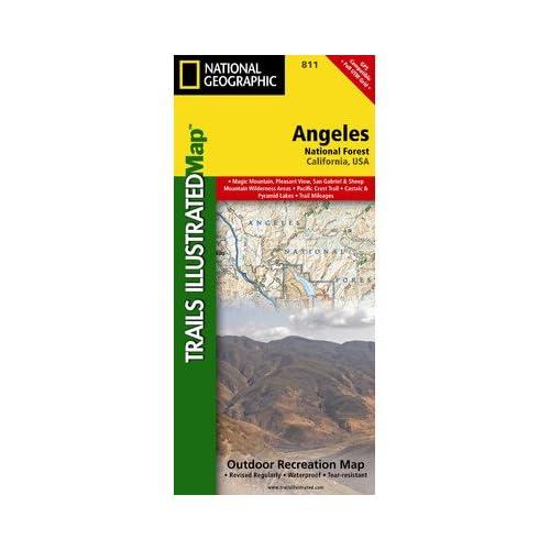 ナショナルジオグラフィックマップTI00000811ロサンゼルス国有林地図