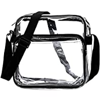 Heavy Duty Clear Tote See Through Messenger Bag Transparent