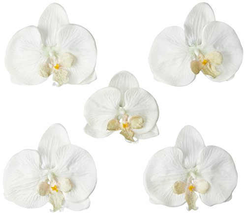 胡蝶蘭(白)セット ヘアコサージュ 結婚式 成人式 髪飾り 和装...