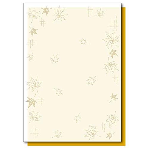 タカ印 ポップ用紙 4-5007 和紙風 和柄用紙 すきもよう 紅葉 A4 10枚