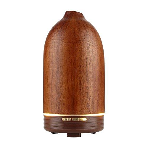 Joly Joy アロマディフューザー 超音波式 加湿器 空焚き防止 卓上 低騒音 100ML 木製