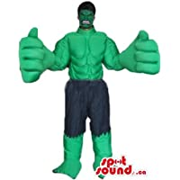 ハルクは、緑の男の漫画のキャラクターをマスコットカナダ衣装仮装をSpotSound
