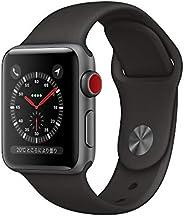 Apple?Watch Series?3(GPS?+?Cellularモデル)- 38mmスペースグレイアルミニウムケースとブラックスポーツバンド