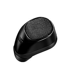 Eonfine Bluetooth ヘッドセットBluetooth 4.1 ワイヤレスヘッドセット イヤホン 片耳 音声ガイド 言語切替 ワンボタン設計 ミニサイズ 超小型 超軽量 マイク内蔵 高音質 ステルスイヤホン ハンズフリー通話 iPhone Android などのスマートフォンに対応(ブラック)