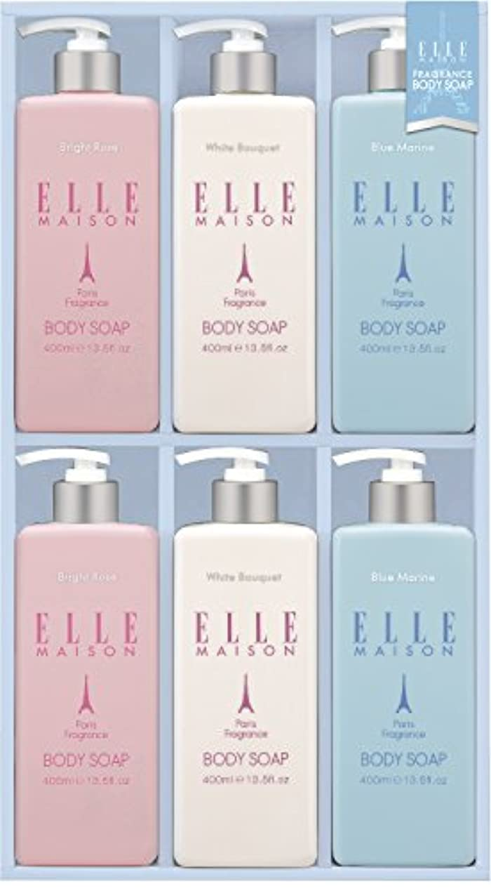飢えたピンクサラミ熊野油脂 ギフト ELLE MAISONボディソープギフト EBS-30