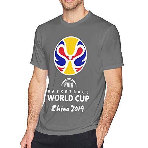 F-I-B-A Basketball 2019 China Tシャツ メンズ 半袖 カットソー 無地 薄手 おしゃれ 柔らかい ファッションおしゃれ カットソー 快適な 春夏着服