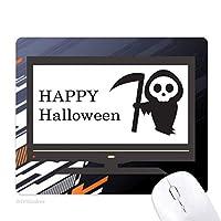 ハッピーハロウィン幽霊の恐れ ノンスリップラバーマウスパッドはコンピュータゲームのオフィス
