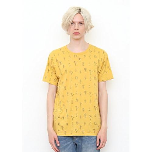 (グラニフ)graniph 総柄半袖TシャツF / トロピカルアイテムズ ( マスタード ) S