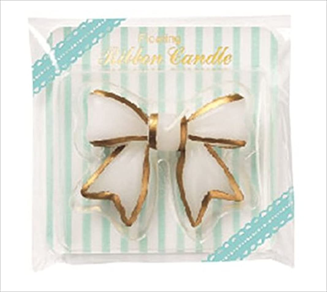 売上高パワーホースカメヤマキャンドル(kameyama candle) フローティングリボンキャンドル 「 ホワイト 」