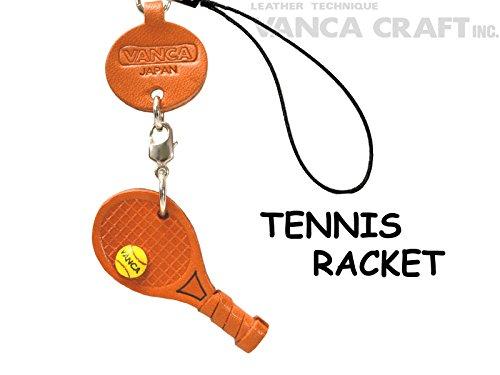 本革 携帯ストラップ プチ グッズ テニスラケット VANC...