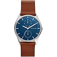 SKAGEN Men's SKW6449 Year-Round Analog-Digital Quartz Brown Band Watch