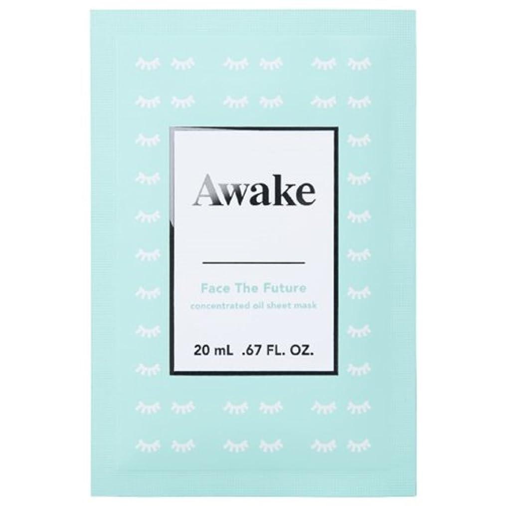 初期走る養うアウェイク(AWAKE) Awake(アウェイク) フェイスザフューチャー コンセントレイティッド オイルシートマスク (20mL × 6枚入)