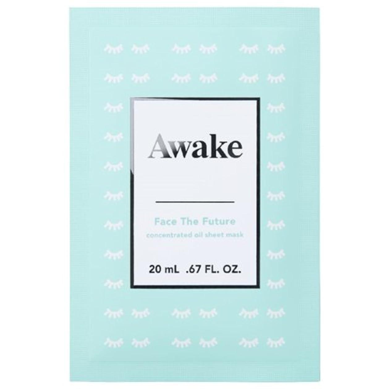 スリラー偽造建設アウェイク(AWAKE) Awake(アウェイク) フェイスザフューチャー コンセントレイティッド オイルシートマスク (20mL × 6枚入)