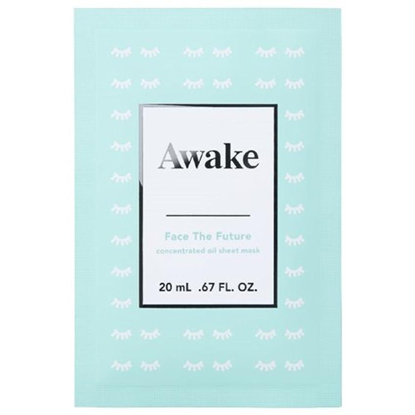 思いやりのある節約オーガニックアウェイク(AWAKE) Awake(アウェイク) フェイスザフューチャー コンセントレイティッド オイルシートマスク (20mL × 6枚入)