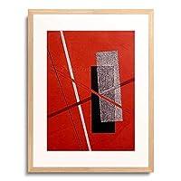 モホリ=ナジ・ラースロー Moholy-Nagy László 「Platte 4 aus der Serie Konstruktionen.」 額装アート作品